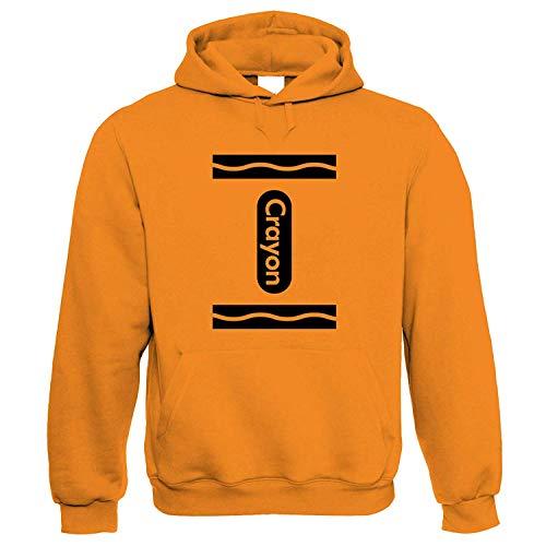 Kapuzenpullover | World Book Day The Day The Crayons Quit Crayola | Wort Roman Publisher Schreibmaschine Journalism | Lustig Geschenk Sie Ihn Geburtstag Orange ()