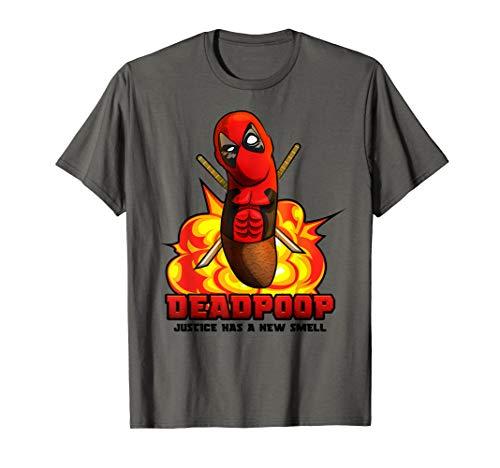 DEADPOOP - Lustiger Kot im Superhelden Kostüm für Comic Fans - Superhelden Nerd Kostüm