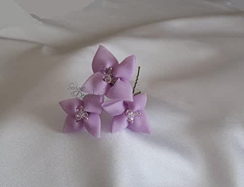 Forcine per capelli sposa colore lilla glicine