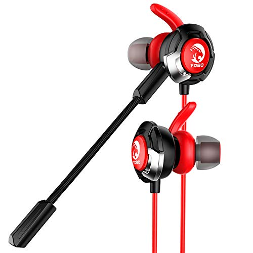 Earphones Wired In Ear Gaming Kopfhörer Deep Bass Mit Dual Mic 3,5 Mm Für Nintendo Switch, Ps4, Pc Laptop Und Smart Phone