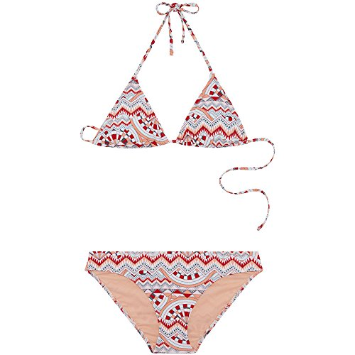 Chiemsee Damen Gemustert zum Schnüren Triangle Bikini-Set, D1081 Graphic 2, S