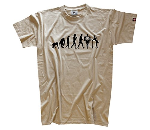 'Shirtzshop–Maglietta da uomo beige