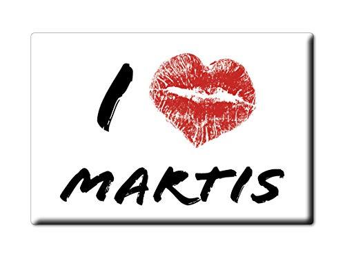 Enjoymagnets MARTIS Souvenir Sardegna (SS) KÜHLSCHRANK Magnet Fridge ICH Liebe Gift I Love (VAR. KISS) - Ss-side-by-side Kühlschrank