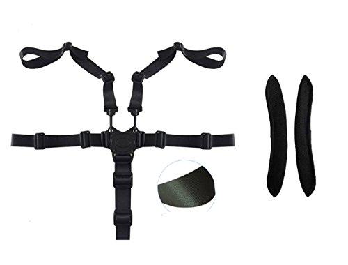 iZoeL Bébé Harnais de sécurité 5 points pour poussette, chaise haute Siège sécurité ceinture avec Épaulière Réglable Nylon