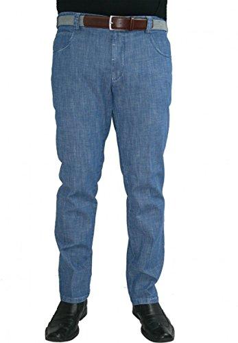 Meyer Hosen -  Jeans  - straight - Basic - Uomo Blau 34