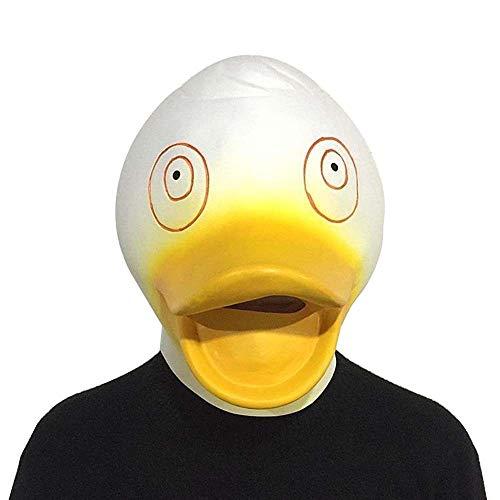IENPAJNEPQN Niedliche kleine gelbe Enten-Tiermasken-Maskerade-Enten-Masken-Stangen-Tanz-Stützen (Color : White, Size : One - Niedliche Kostüm Für Tanz
