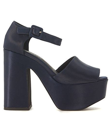 Sandalo Jeffrey Campbell Candice in raso blu notte Blu