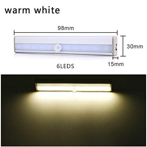 Sensor de movimiento Barra de luces led Luz debajo del gabinete LED...