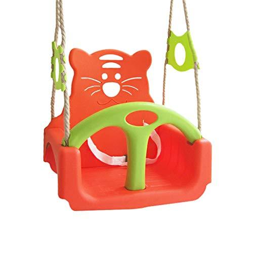 3-in-1|Schaukel Baby|Draußen Kinderschaukel|Abnehmbar,Mit Hohem Rücken|Sicherer Gürtel,Frei Einstellbare Höhe Design|Verbesserte Sicherheitsfunktionen|Mindestalter: 6 Monate|Kombination (Farbe : A) - Schaukel Gürtel Baby