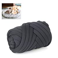 ‏‪Super Chunky Yarn Cotton Handmade Pet Bed Soft and Thick Arm Knitting DIY Cat Dog Pet Bed Cave Nest Washable Cushion Rug Blanket (50 Meters/ 164 Feet)‬‏