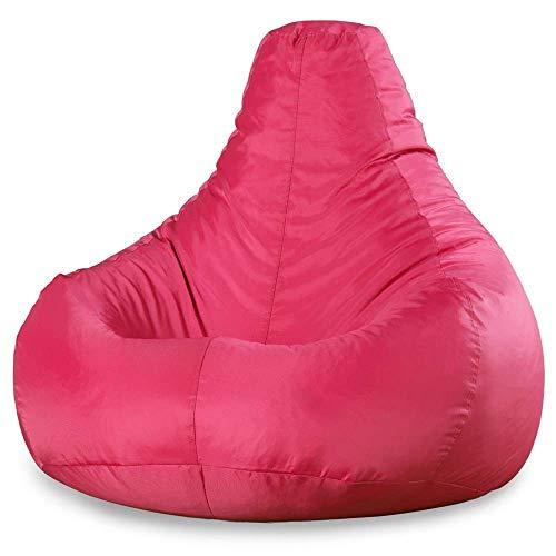 Bean Bag Bazaar - Puf reclinable (para interiores o exteriores, impermeable) - Puffs Asiento (Rosa)