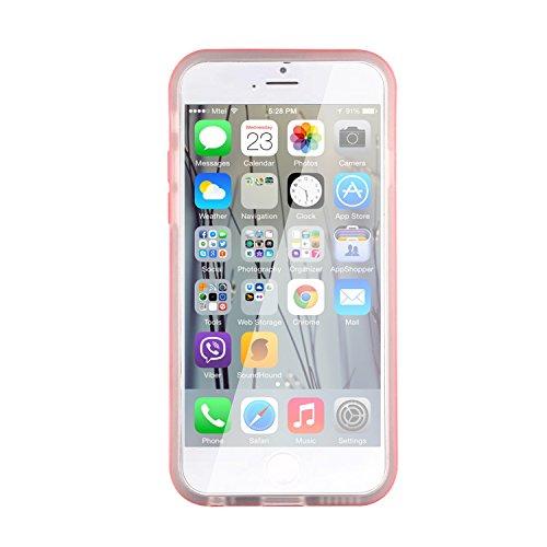 Coque iPhone 6 6s Coque silicone iPhone 6 6s | JAMMYLIZARD | Coque silicone souple satinée coque métalisée coque cadre de couleur pour iPhone 6 6s, Rouge ROUGE