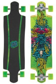 Santa Cruz Longboard Sea God Green, 9.9 x 38.3 Zoll, SANLOBSEGOGR