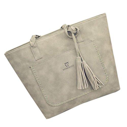 Damenhandtaschen Ronamick Damen Mode Quaste Handtasche Schultertasche große Tote Damen Geldbörse (Grün) - Tote Papierkorb