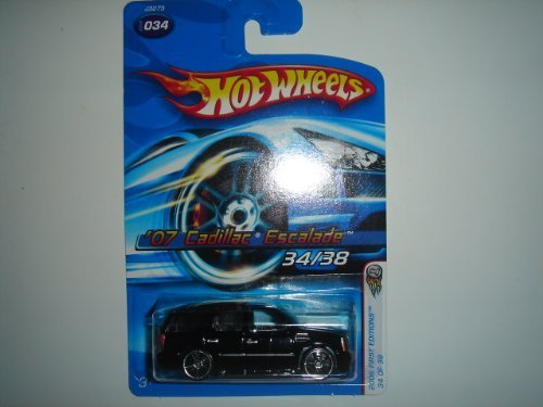 2006-hot-wheels-first-editions-07-cadillac-escalade-black-with-oh5sp-wheel-variant-2006-034-by-matte