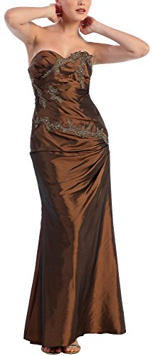 Heels Hochzeit Silberne (Abendkleid lang Festkleid Brautmutterkleid Abiballkleid Brautjungfernkleid Abschlussball-Kleid Meerjungrau Taft)