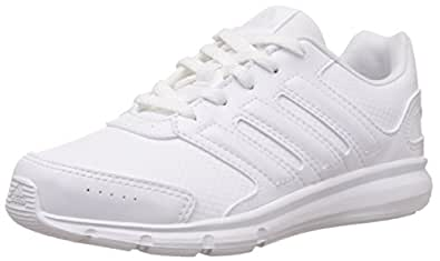 adidas Unisex Lk Sport K White, White and Grey Mesh Sneakers  - 13 kids UK/India (31.5 EU)