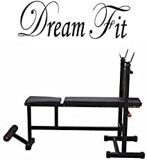 Dreamfit Weight Lifting Multi Purpose Adjustable Multi Bench 4 In 1 Home Gym Bench ( Incline + Decline + Flat + Sit Up Bench)