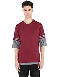 Slim Fit Double Neck Tshirt With Accessory Sleeves By Pick Indiana