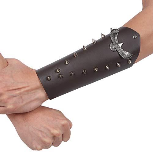 Agoky Herren Punk Leder Armband Nieten Arm