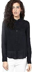 ONLY Womens Body Blouse Shirt (15104359_Black_38)