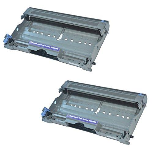 2x Trommeleinheit kompatibel für Brother DR2000 DCP-7010, DCP-7010L, DCP-7020, DCP-7025, FAX-2820, FAX-2920, HL-2030, HL-2032, HL-2040, HL-2050, HL-2070, HL-2070N, HL-6050D, HL-6050DN, MFC-7220, MFC-7225N, MFC-7420, MFC-7820, - Ersatz-trommel Brother 2070n