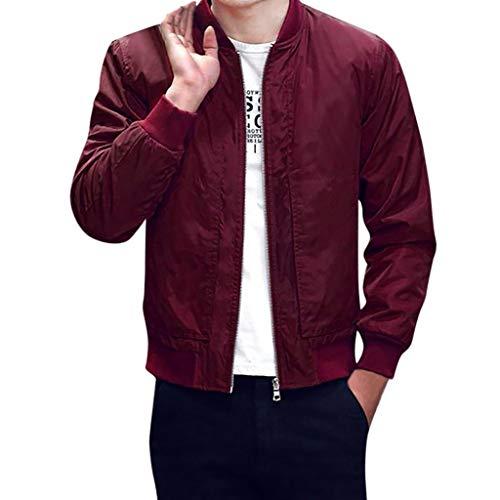 Smonke Herren Jacke Reißverschluss-Mantel Solide Freizeitkleidung Mode-Polyester Sweatshirts Langarm Winter Warme Oberteile Schlanke Bluse -