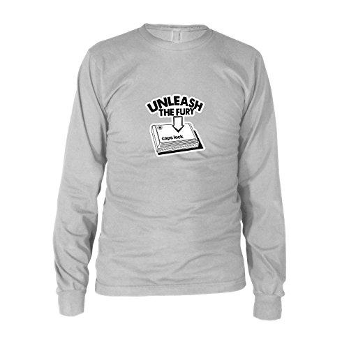 Caps Lock Fury - Herren Langarm T-Shirt, Größe: XXL, Farbe: ()