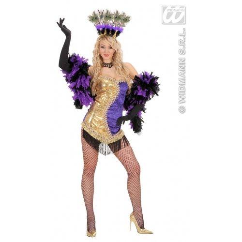 Kostüm Showgirls Vegas - Sexy Vegas Showgirl gold/lila Gr.L