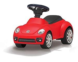 Jamara 460407-Correpasillo VW Beetle Antivuelco, Claxon en el Volante, Aspecto auténtico, Color Rojo 460407
