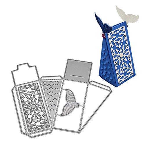Stanzschablone für Scrapbooking, Metall, für Sizzix Big Shot/andere Maschinen (B, Triangle-Box)