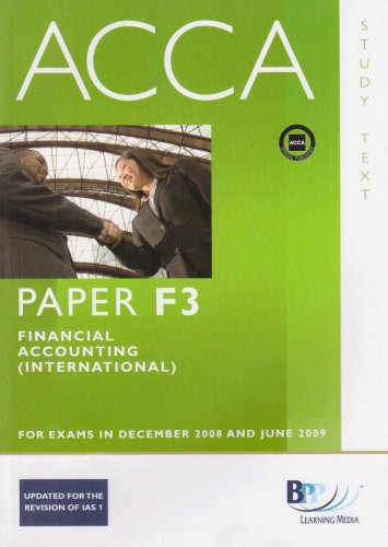 ACCA - F3 Financial Accounting (INT): Study Text por BPP Learning Media