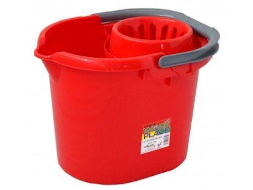 Eimer von Wham zum Putzen oder als Abfalleimer, rot, 16 Litre Mop Bucket ()
