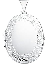 925plata de ley tamaño mediano grabado ovalado con camafeo colgante