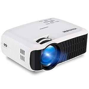 Vidéoprojecteur LCD Portable, 2000 lumens Projecteur Supporte 1080p Full HD Avec 60-120
