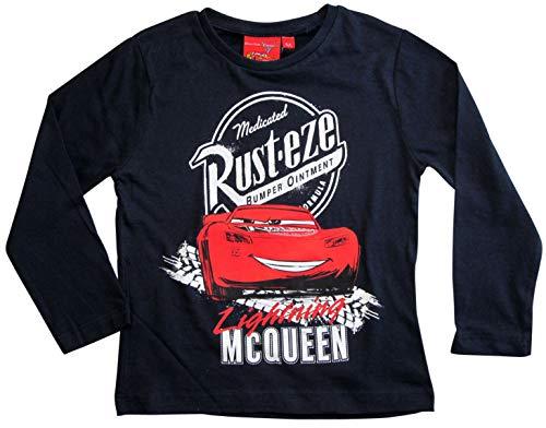 Cars Disney 3 Langarmshirt Lightning McQueen Jungen (Blau, 122-128)