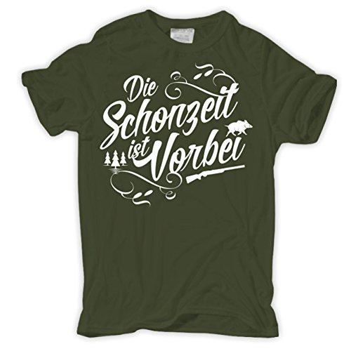 Männer und Herren T-Shirt Die Schonzeit ist vorbei (mit Rückendruck)