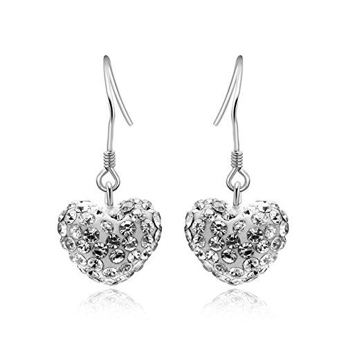925 Orecchini d'argento/ Orecchini a forma di cuore/Orecchini moda lunga (Diamante Forma 925 Orecchini D'argento)
