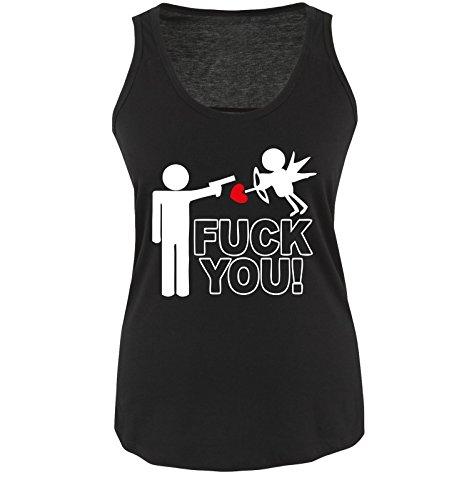 Funshirts-Company - T-shirt - Donna Schwarz / Weiss / Rot