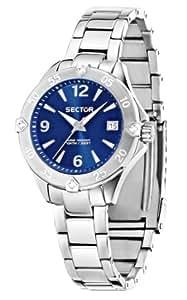 Sector No Limits - R3253250501 - 250 - Pendule Femme - Quartz Analogique - Cadran Bleu - Bracelet Acier Argent