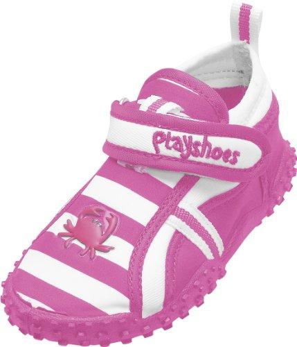 Playshoes Aquaschuhe, Badeschuhe Krebs mit höchstem UV-Schutz nach Standard 801 174782, Mädchen Aqua Schuhe, Pink (original 900), EU 20/21