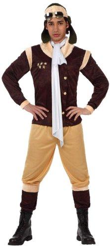 Atosa - Disfraz de aviador para hombre, talla L (50-52) (12044)