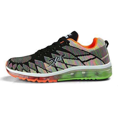 Qianliuk scarpe da ginnastica unisex scarpe da corsa cuscino d'aria scarpe sportive da jogging scarpe da ginnastica da jogging scarpe da ginnastica colorate per coppie all'aperto scarpe casual