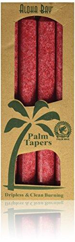 Palm Wachskerzen, ohne Duft, Rot, 4er Pack, 9 in (23 cm), die jeweils - Aloha Bay