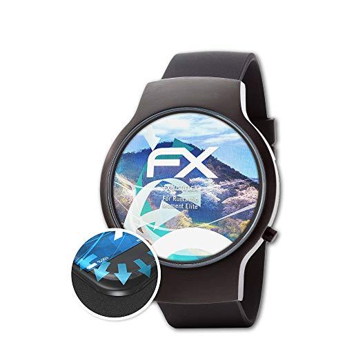 atFoliX Schutzfolie passend für Runtastic Moment Elite Folie, ultraklare & Flexible FX Bildschirmschutzfolie (3X)