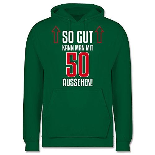 Geburtstag - So gut kann man mit 50 aussehen - Männer Premium Kapuzenpullover / Hoodie Grün
