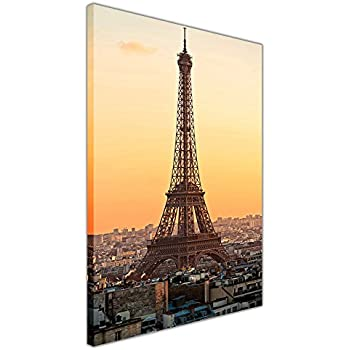 Eiffel Tower In Paris, France Modern Canvas Wall Art Picture Print ...