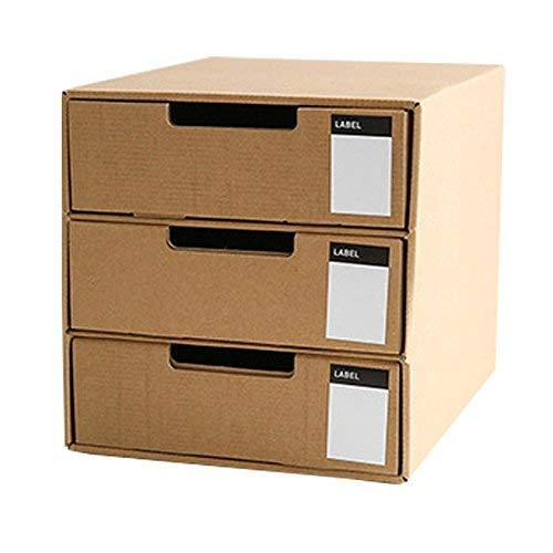 Cajón cartón Baffect 3 capas papel Kraft DIY Almacenamiento
