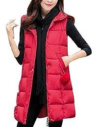 purchase cheap a4beb 855f1 Amazon.it: Gilet smanicato - Rosso / Donna: Abbigliamento