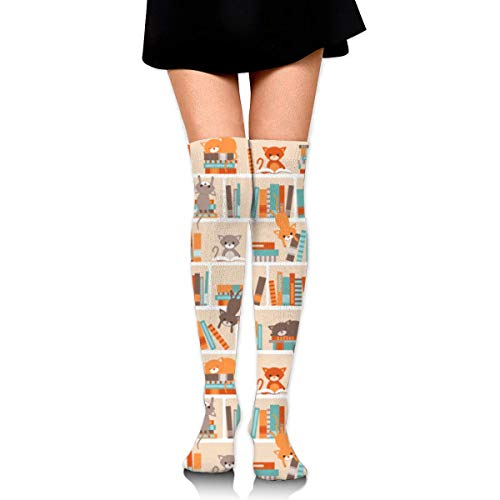 CVDGSAD Knee High Socks Library Cats Long Socks Boot Stocking Compression Socks for Women
